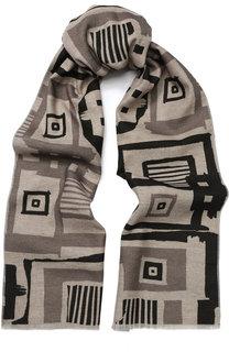Шелковый шарф с необработанным краем Kiton