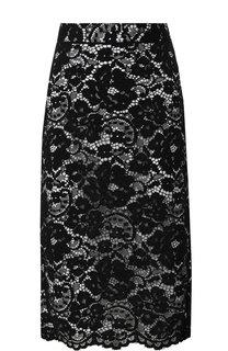 Кружевная юбка-карандаш DKNY