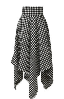 Шерстяная юбка-миди с оборками и принтом Dolce & Gabbana