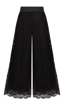 Кружевные брюки с эластичным поясом Dolce & Gabbana