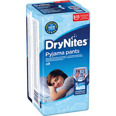 Трусики Huggies DryNites для мальчиков 8-15 лет, 27-57 кг, 9 шт.