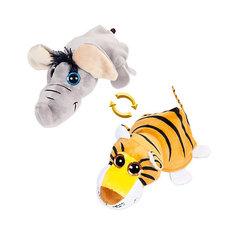 """Мягкая игрушка Teddy """"Перевертыши"""" Слон-Тигр, 16 см"""
