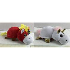 """Мягкая игрушка Teddy """"Перевертыши"""" Лошадка-Единорог, 16 см"""