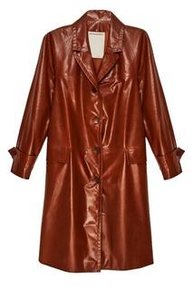 Терракотовое кожаное пальто Color Temperature