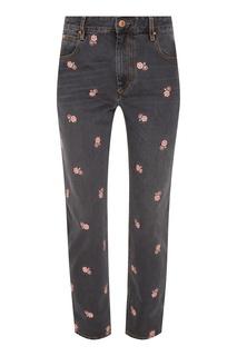 Серые джинсы Cliffy с вышивкой Isabel Marant Etoile