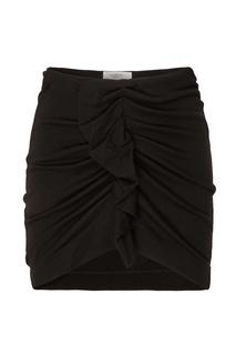 Черная юбка миди с оборкой Joyce Isabel Marant Etoile