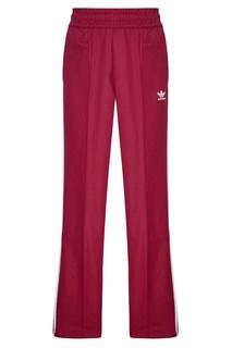 Бордовые брюки с лампасами Adidas