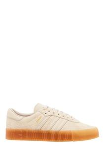 Белые кожаные кроссовки SAMBAROSE W Adidas