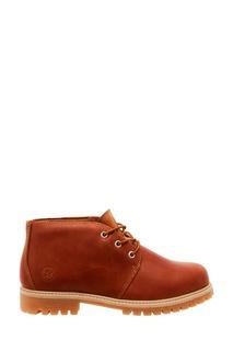 Коричневые кожаные ботинки на шнуровке Affex