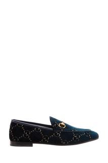 Бархатные туфли с монограммами Gucci