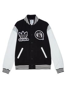 Куртка с контрастной отделкой Adidas