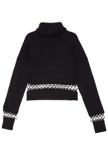 Короткий свитер с отделкой David Koma
