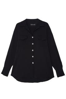 Свободная черная блузка David Koma