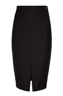 Черная юбка-миди с разрезом Akhmadullina Dreams