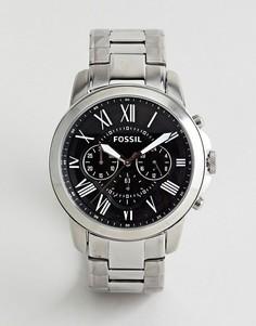 Серебристые часы-браслет Fossil FS4736IE Grant - Серебряный