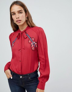 Рубашка с бантом Love Moschino - Красный