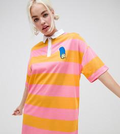 Платье-рубашка The Simpsons x ASOS DESIGN - Мульти