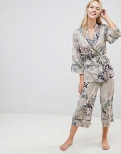 Пижамные брюки с цветочным принтом Lindex Ella M - Зеленый