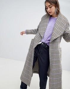 Пальто в клетку Gestuz - Серый