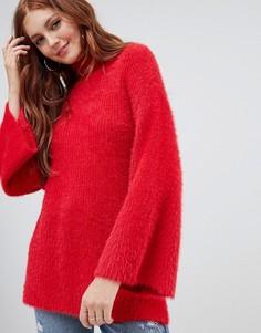 Пушистый джемпер с широкими рукавами New Look - Красный
