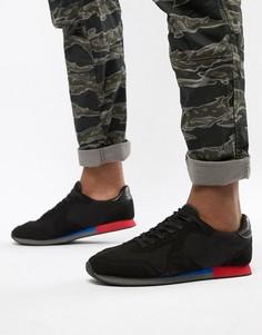Черные кроссовки в стиле ретро с цветной подошвой ASOS DESIGN - Черный