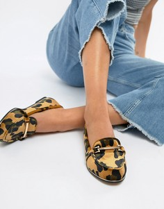 Туфли на плоской подошве с леопардовым принтом ASOS DESIGN - Мульти