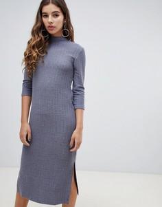 Платье миди с высоким воротником JDY - Серый