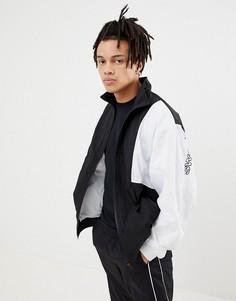 Спортивная куртка в стиле 90-х с логотипом на рукавах SWEET SKTBS - Черный