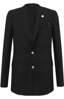 Однобортный пиджак на двух пуговицах Givenchy