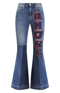 Расклешенные джинсы с декоративными нашивками Dolce & Gabbana
