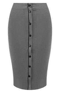 Шерстяная юбка-карандаш на кнопках T by Alexander Wang