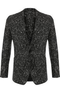 Однобортный пиджак из шерсти Dolce & Gabbana
