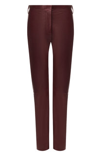 Кожаные брюки прямого кроя Valentino