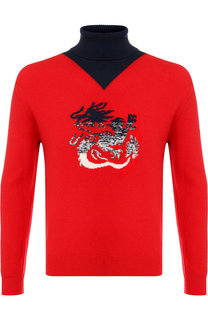 Шерстяной свитер с воротником-стойкой Kenzo