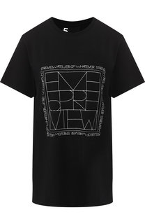 Хлопковая футболка с принтом 5PREVIEW