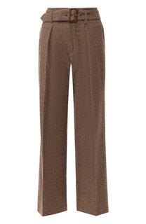 Шерстяные брюки со стрелками и поясом Polo Ralph Lauren