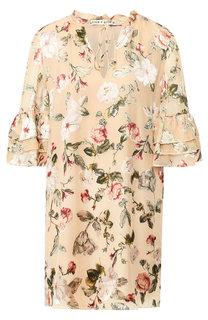 Мини-платье с оборками и принтом Alice + Olivia