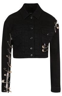 Джинсовая куртка с декоративной отделкой Versus Versace