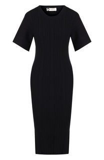 Шерстяное платье-миди с круглым вырезом Lanvin