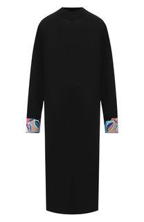 Шерстяное платье с контрастными манжетами Emilio Pucci