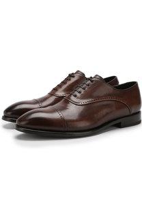 Кожаные оксфорды на шнуровке W.Gibbs