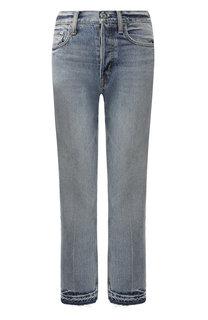 Укороченные джинсы с потертостями Helmut Lang