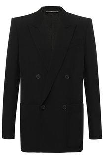 Двубортный пиджак из шерсти Givenchy