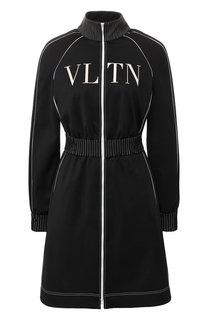 Приталенное платье на молнии с логотипом бренда Valentino