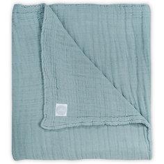 Муслиновое одеяло Jollein, 75х100 см (Серо-зеленый)