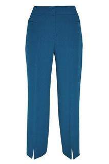 Укороченные бирюзовые брюки Adolfo Dominguez