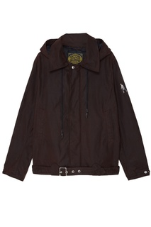 Коричневая куртка с капюшоном ОЛОВО