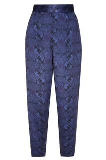 Синие брюки с абстрактным принтом Adolfo Dominguez