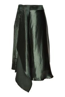 Черная юбка миди с драпировкой Adolfo Dominguez