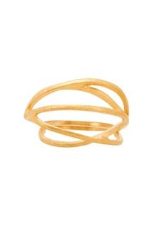 Объемное кольцо с позолотой Joidart Barcelona